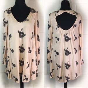 Free People Emma Dress Soft Pink With Flowers